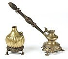 2  RARE NEPALESE ORNATE ANTIQUE HOOKAH / SISHA PIPES, circa 1850