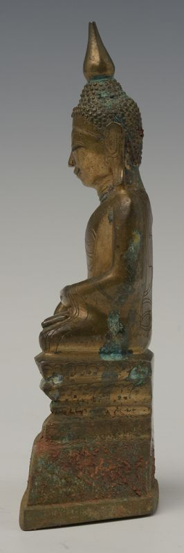 16th CENTURY SHAN BRONZE SMILING BUDDHA