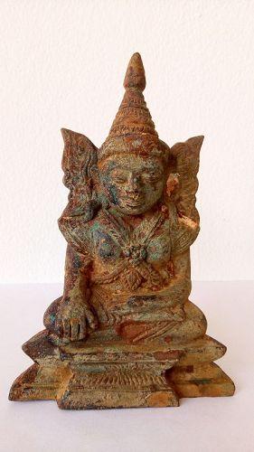 17th CENTURY MAHA MUNI EXCAVATED BRONZE BUDDHA BURMA