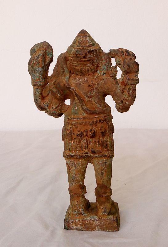EXCAVATED 17th CENTURY BURMESE BRONZE GANESHA