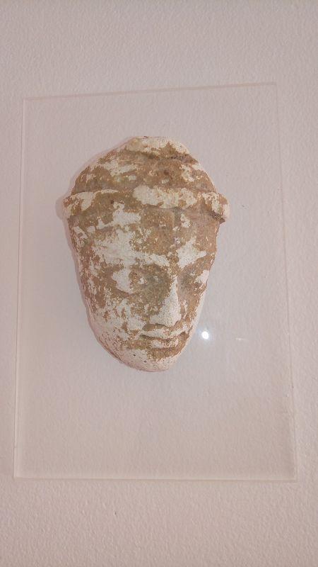 GENUINE GANDHARA BUDDHA HEAD MOUNTED