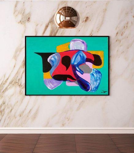 """HARLEQUIN'S DANCE"" Original Acrylic Painting"