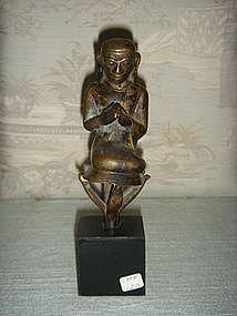 AVA Bronze Disciple Burma, 17/18th Century