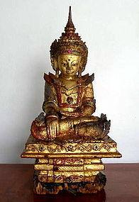AMARAPURA Buddha in Royal Attire, Burma, 18th Century