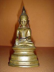 Shan Bronze Buddha Subduing Mara, Burma, 18th Century