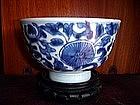 Blue + White Bowl, Ching Dynasty,Qing