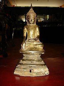 17/18th Century Bronze SHAN Buddha on High Throne, Burma