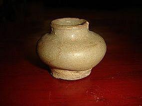 Miniature Celadon Vase, Pre 1492,  China