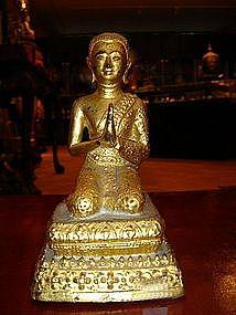 Bronze Sculpture of Disciple, Rattanakosin Period, Thai