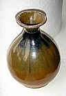 Pear-shaped Song Dynasty Vase with brown Iron Glaze.