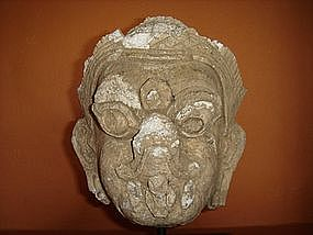 Rare Stucco Head of Garuda, 17th Century, Siam
