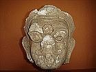 Rare Stucco Head of Garuda, 17th Century, Siam