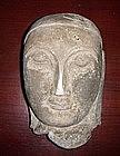 16th Century Stone AVA Period Head