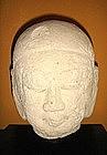 18th Century Stucco Ava Period Head, Burma