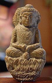 Kushan Terracota Votive Buddha, 2-4th Cent. AD.