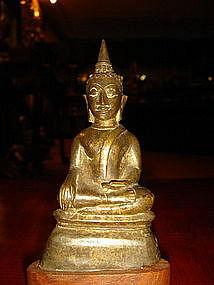 Ayutthaya Bronze Buddha Figure, 17/18th Century Siam