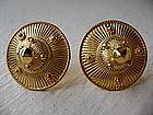 Handmade Khmer Fine Gold Earrings 24K. for pierced ears