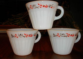 Termocrisa  Red and Black Floral Cups