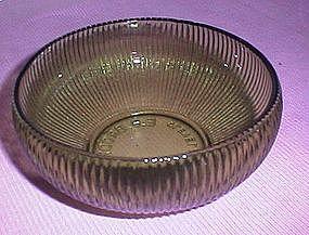 E. O. Brody Green Glass Floral Bowl