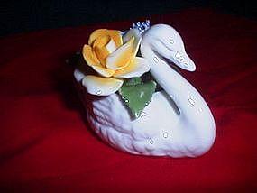 Radnor Bone China Floral Swan