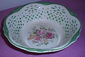 Homer Laughlin Virginia Rose serving bowl