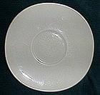 Crooksville China White Saucer