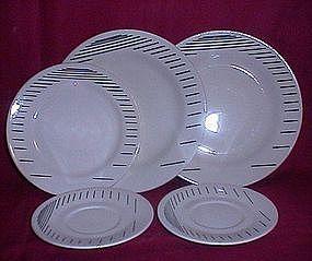 Oxford Brazil Black Pin Stripe Dinnerware