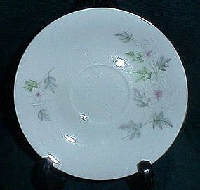 Made in China White Floral Saucer