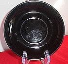 Black Ceramic Saucer