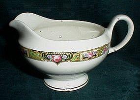 Edwin Knowles Chartreuse Pattern Creamer