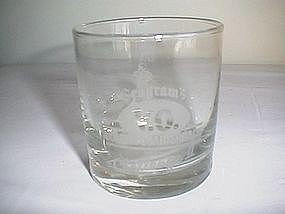 Libbey Seagram's Golden Quarterback Challenge II Glass