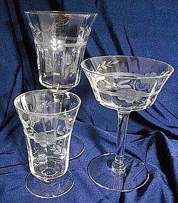 Bartlett & Collins Crystal Stemware