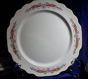 W. S. George Flower Rim Dinnerware