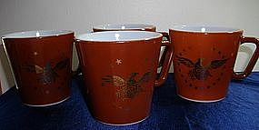 Pyrex American Gold Eagle Coffee Mugs
