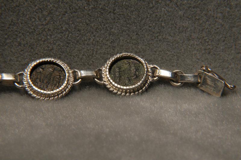 Ancient Roman Bronze Coins Of Constantine/ Bracelet