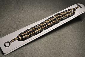 Ancient Roman Black and white beads bracelet, 100 AD