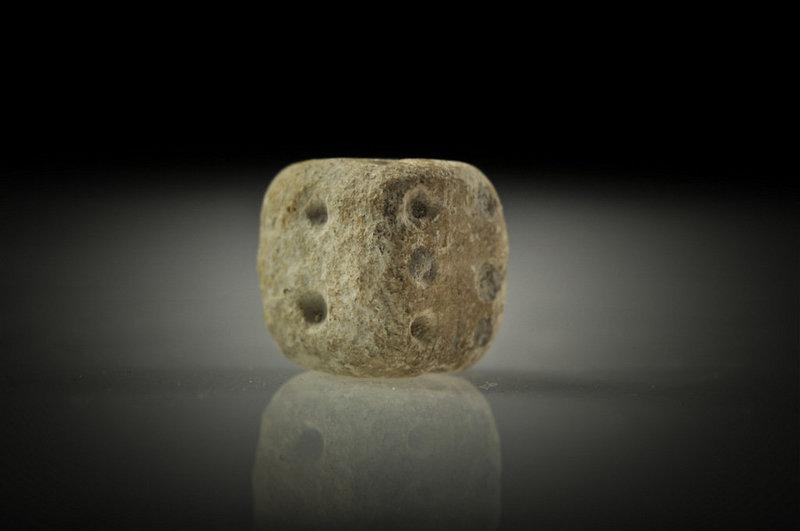 Roman steatite gaming die, 100 AD