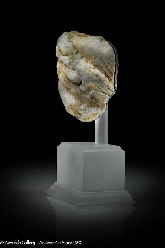 Ancient Roman marble head fragment 100 � 300 AD