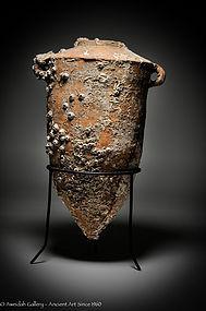 Ancient Phoenician shipwreck wine amphora, 800 BC