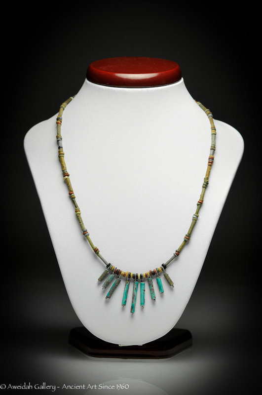 Egyptian Hyksos Faience Beads Necklace,1500 BC