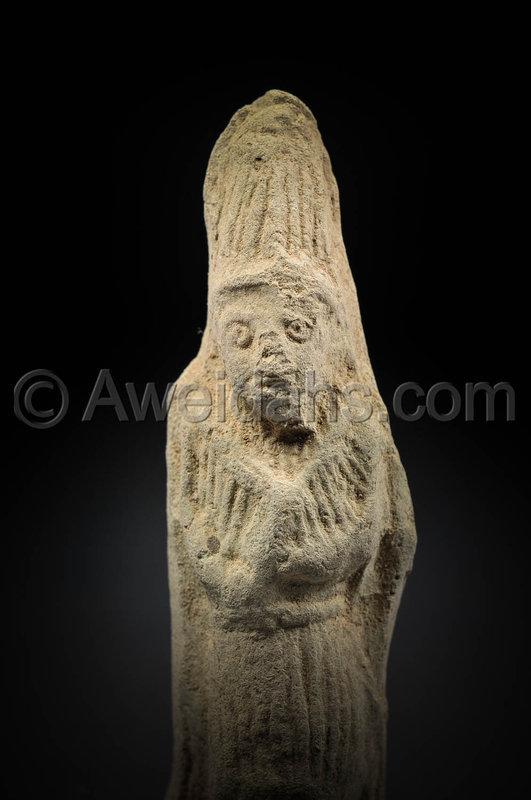 Mesopotamian, Babylonian figure of a stand worshipper, 1800 BC