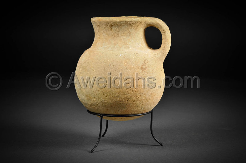 Biblical Iron Age pottery wine pitcher, 1000 B.C.