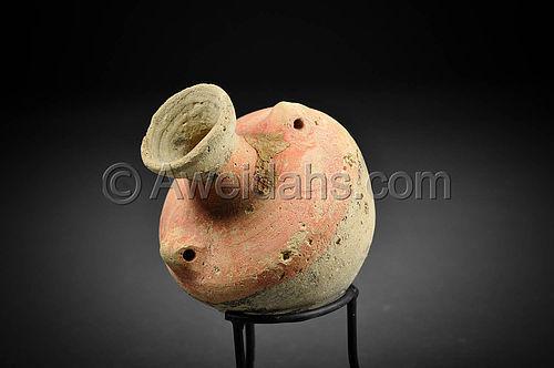 Roman painted pottery perfume jar, 100 - 300 A.D