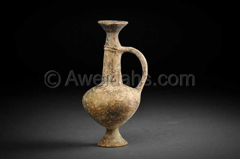 Cypriot, Late Bronze Age burnished pottery juglet, 1550 - 1200 BC