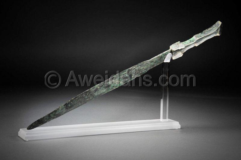 Ancient bronze short sword, 1000 � 800 BC