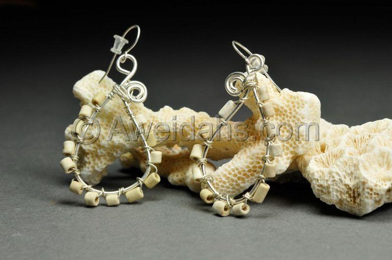 Ancient Roman stone beads earrings, 100 – 300 AD