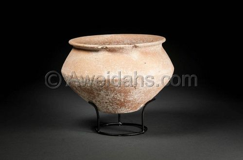 Ancient biblical Middle Bronze Age pottery bowl, 1850 BC