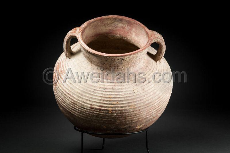 Ancient biblical Roman Herodian pottery cooking pot, 37 BC - 70 AD