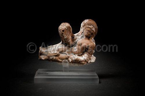 Ancient Greco-Roman terracotta figure, 100 BC/AD