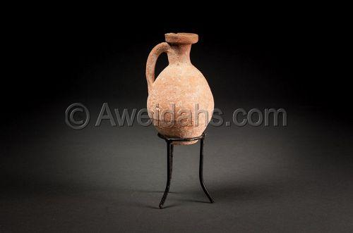 ANCIENT ROMAN POTTERY PERFUME JAR, 100 AD